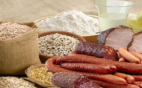 Buy Soybean flour is textured for the production of sausages