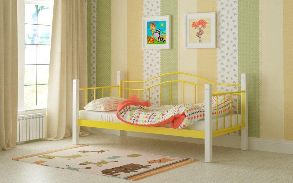 Купить Металлическая кровать Алонзо 90х190 см. Мадера