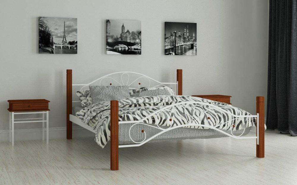 Купить Металлическая кровать Фелисити 120х190 см. Мадера