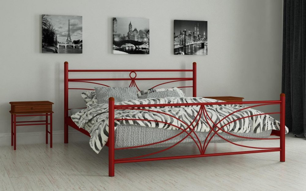Купить Металлическая кровать Тиффани 120х190 см. Мадера