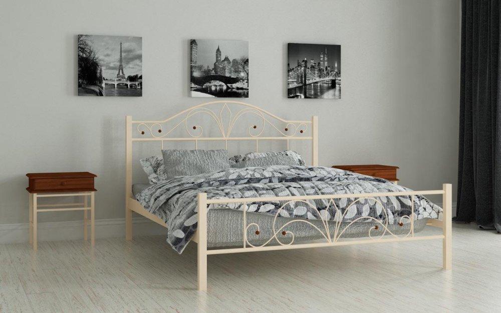 Купить Металлическая кровать Элиз 90х200 см. Мадера