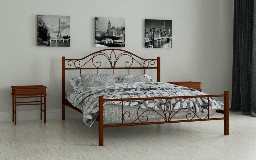 Купить Металлическая кровать Элиз 120х190 см. Мадера