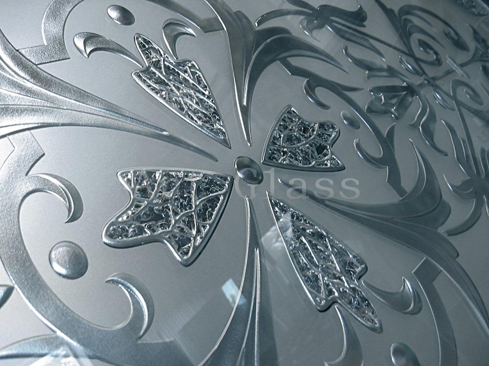 Зеркало в коридор (фацетная гравировка зеркала, зеркало с фьюзингом, матирование зеркала) - изготовление на заказ
