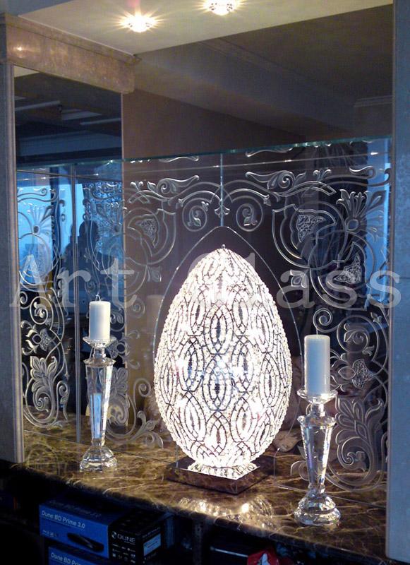 Зеркала настольные с дизайнерским декором по индивидуальным заказам