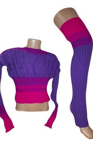 Купить Комплект для разогрева детский Borodina Antonina 116-142см фиолетово-розовый(кофточка длинная+гетры) (0979) 134