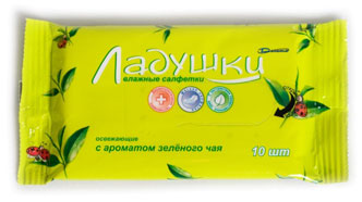 Buy TM napkins Pat-a-cake with aroma of green tea damp for personal hygiene