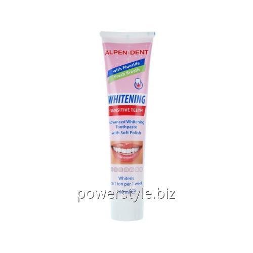 Купить Отбеливающая зубная паста для чувствительных зубов Alpen-Dent 100мл