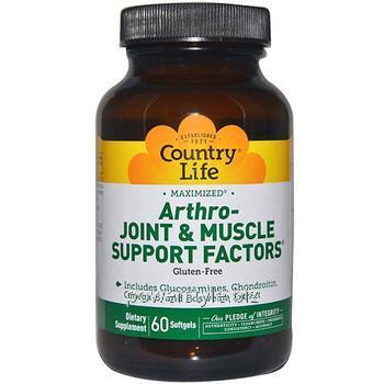 Купить Витаминно-минеральный комплекс для поддержания костей, суставов и мышц Arthro-Joint&Muscle Support 60 капсул ТМ Кантри Лайф / Country Life
