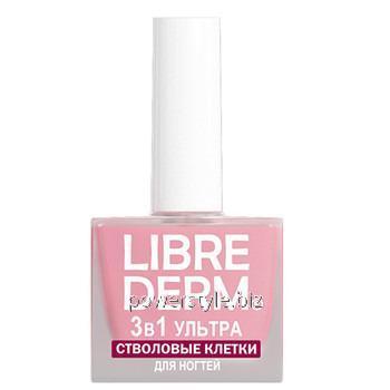 Купить Лак 3 в 1 Ультра средство по уходу за ногтями Стволовые клетки растений ТМ Либридерм / Librederm 10 мл