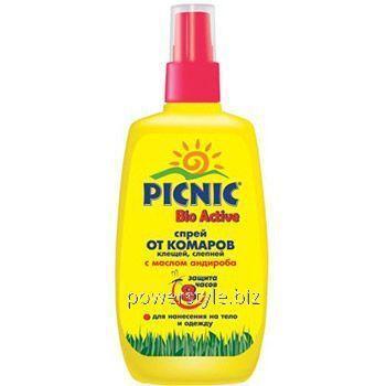 Купить Пикник Био Актив спрей от комаров и клещей 120мл