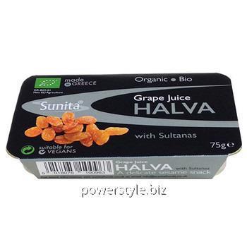 Купить Халва кунжутная с виноградным соком и изюмом Grape Juice Halva w Sultanas 75 г