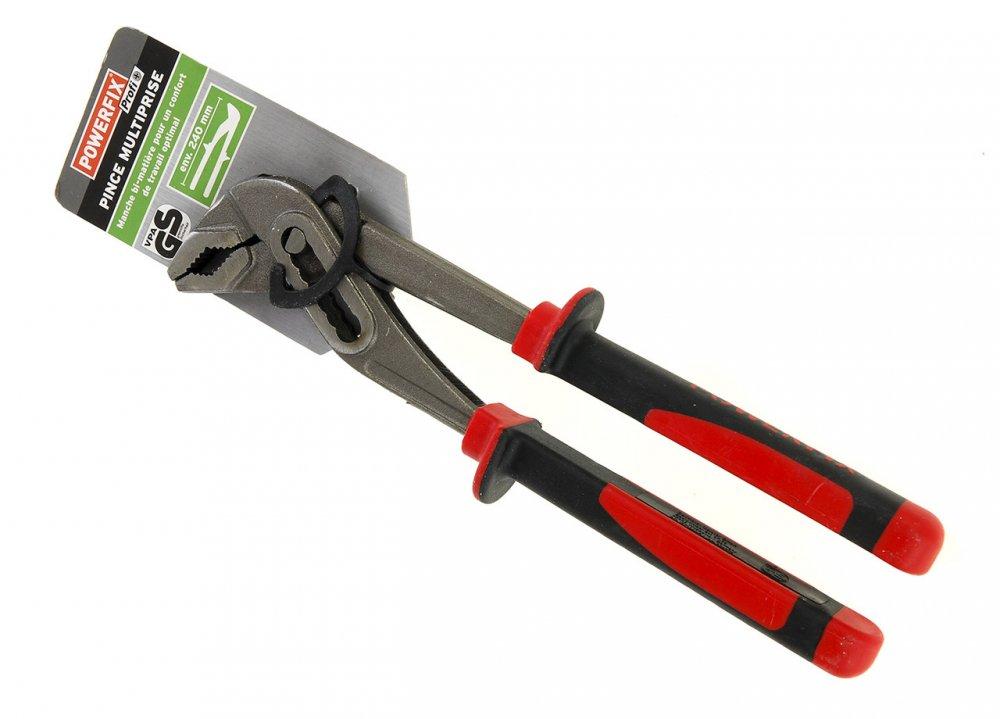 Купить M18-270559, Клещи раздвижные POWERFIX, , черный-красный