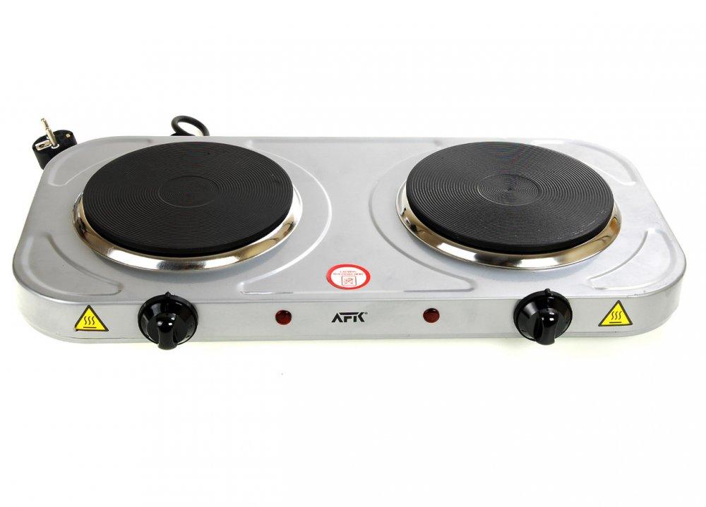 Купить M17-170029, Настольная плита на две конфорки AFK, , серый-черный