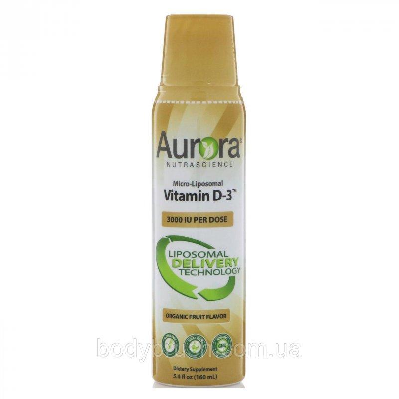 Купить Микро-липосомный витамин D3 Aurora Nutrascience, 3000 МЕ, 160 мл