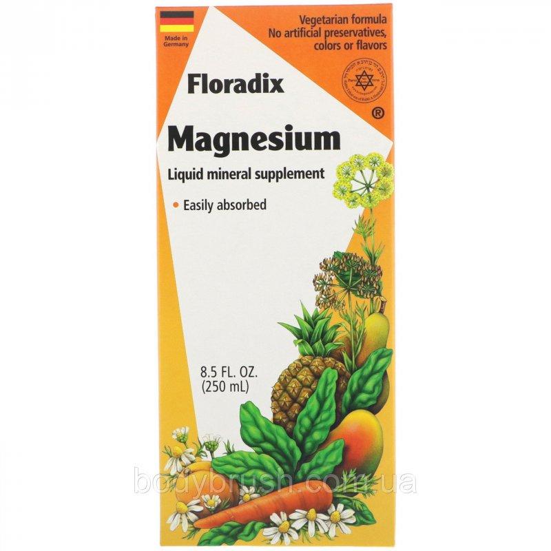 Купить Магний Flora, Floradix, жидкая минеральная добавка, 250 мл