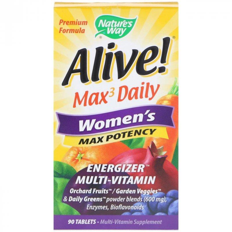 Купить Nature's Way, Alive, Mаксимальная женская сила, 90 таблеток