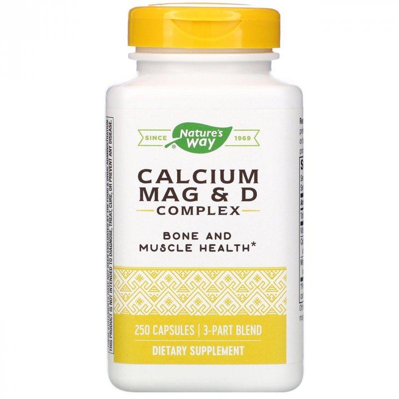 Купить Комплекс магния, кальция и витамина D Nature's Way, 250 капсул