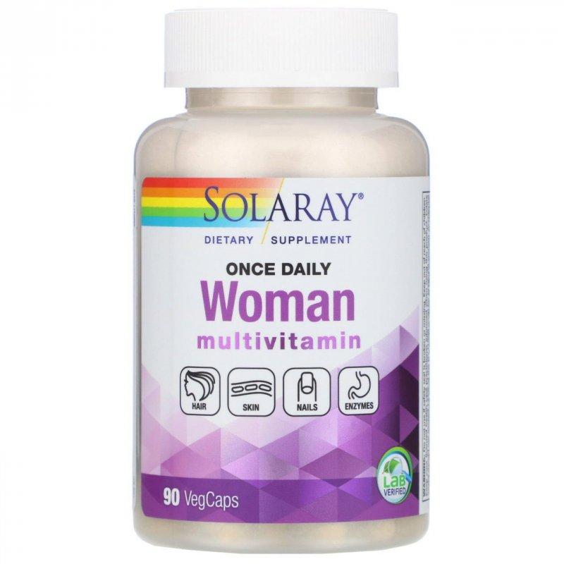 """Купить Ежедневные витамины для женщин """"Multi-Vita-Min"""" от Solaray, 90 вегетарианских капсул"""