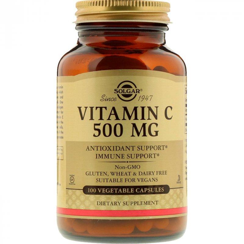 Купить Витамин C от Solgar, 500 мг, 100 капсул