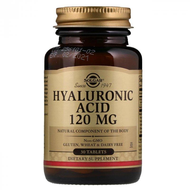 Купить Solgar, Гиалуроновая кислота, 120 мг., 30 таблеток