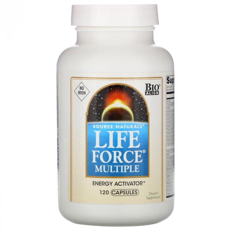 Купить Капсулы Life Force Multiple от Source Naturals, 120 капсул
