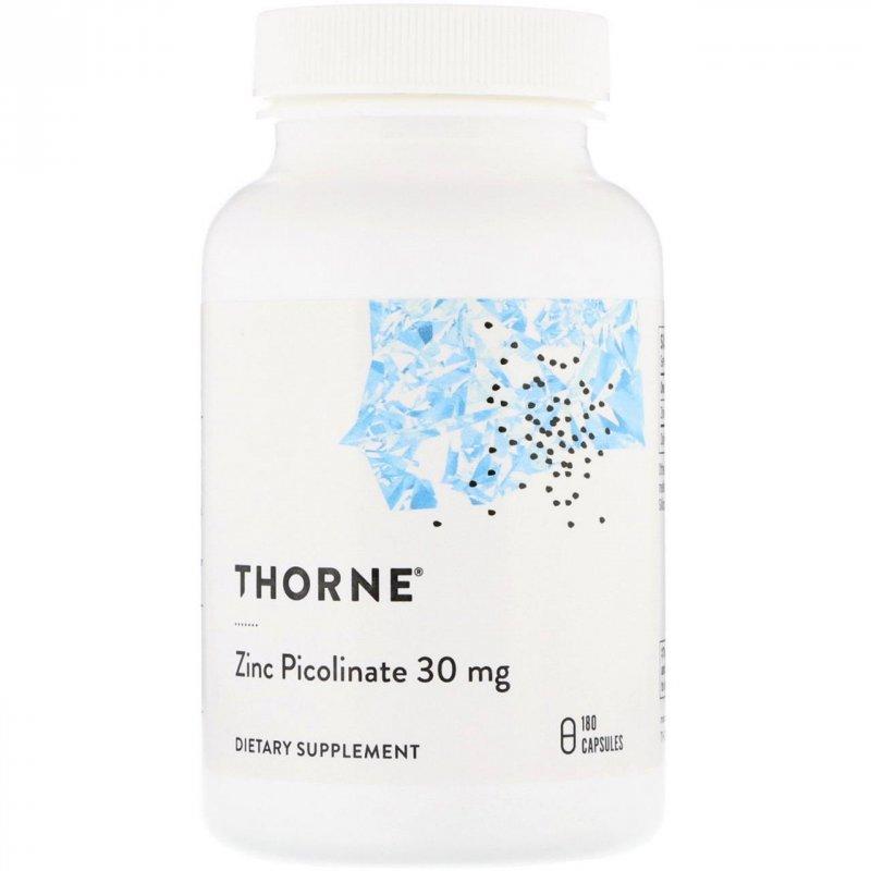 Купить Пиколинат цинка Thorne Research, 30 мг, 180 капсул