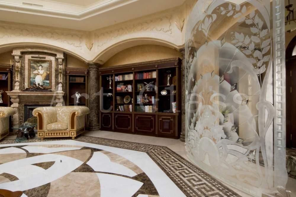 Декоративные архитектурные панели из стекла, мрамора, гранита, оникса, декор из комбинированных материалов стекло и камень