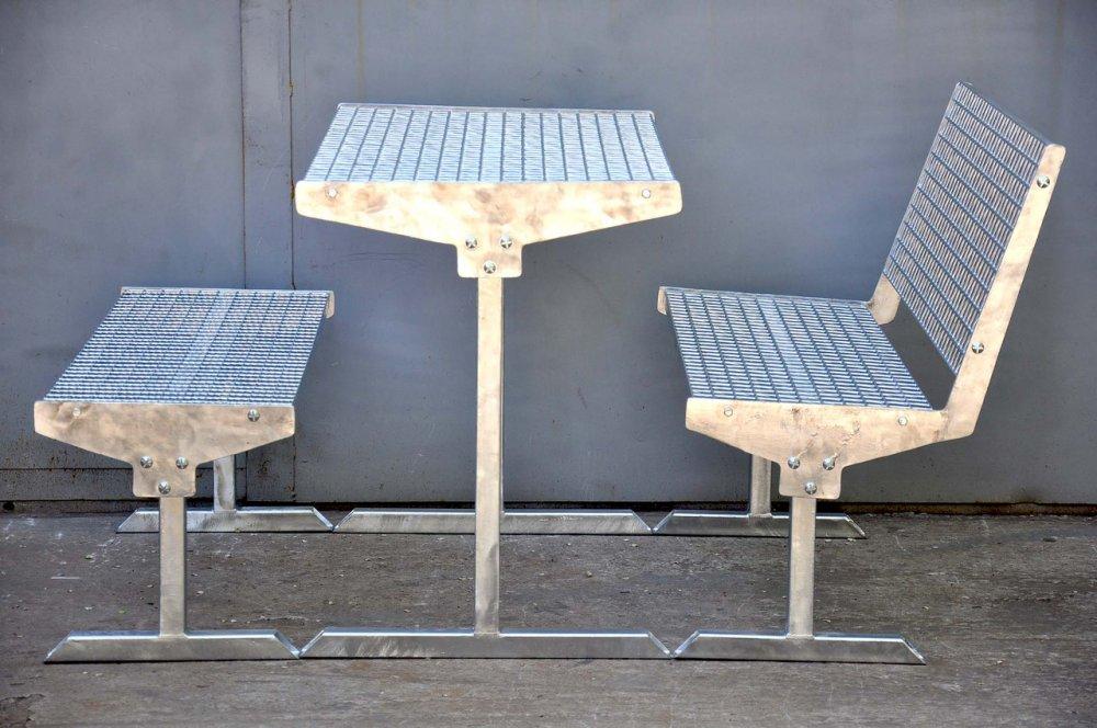 Купить Набор мебели для улицы оцинкованный антивандальный