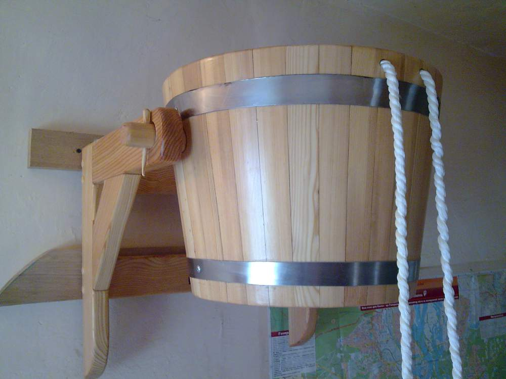 Ведро деревянное для бани своими руками 49