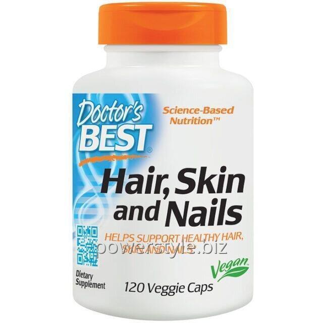 Комплекс для волос, кожи и ногтей, Doctor's Best, 120 гелевых капсул