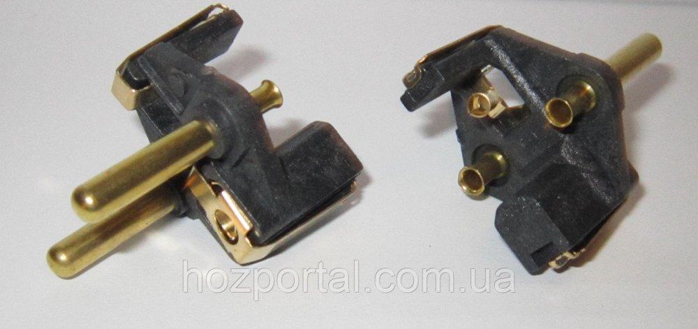 Купить Комплектующая для литых электрических вилок (материал - латунь, диаметр ножки - 5 мм, цвет пластика - черный,