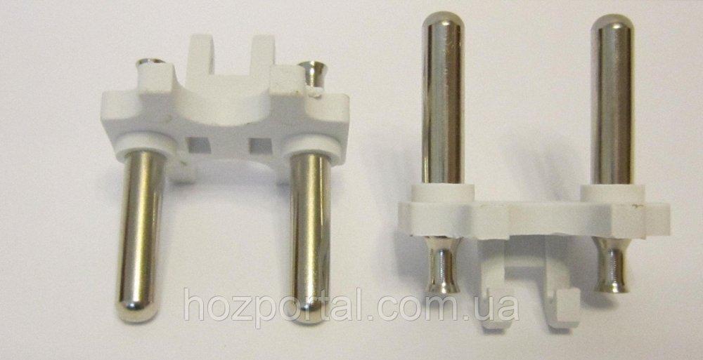 Купить Комплектующая для литых электрических вилок (материал - латунь+покрытие, диаметр ножки - 5 мм, цвет пластика