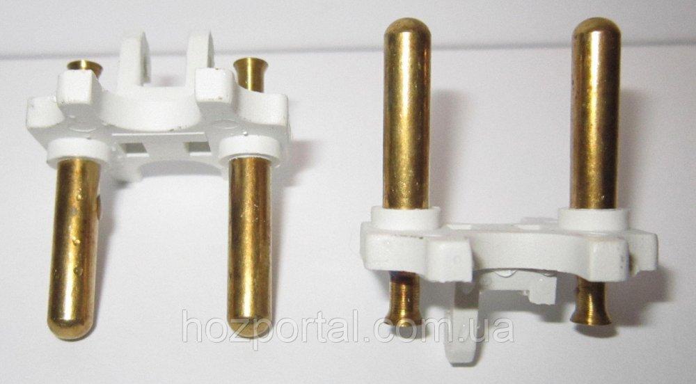 Купить Комплектующая для литых электрических вилок (материал - латунь, диаметр ножки - 5 мм, цвет пластика - белый, о