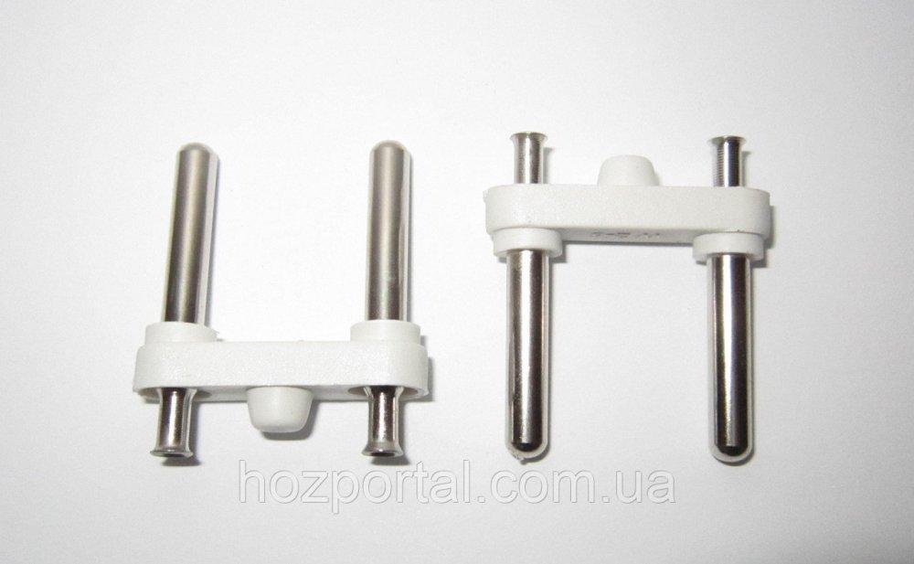 Купить Комплектующая для литых электрических вилок (материал - латунь+покрытие, диаметр ножки - 4 мм, цвет пластика