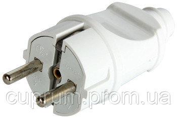 Купить Вилка бытовая e.plug.straight.003.16, с з/к, 16А прямая белая