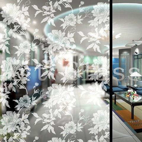 Перегородки стеклянные межкомнатные с оригинальным дизайном, художественное оформление