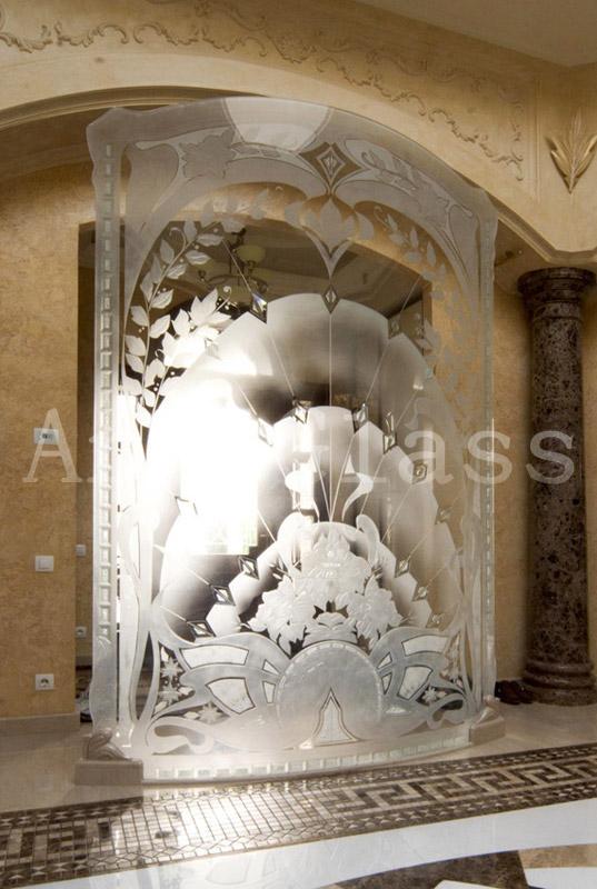 Перегородки для дома стеклянные, перегородки прозрачные, художественная обработка стекла - изысканная роскошь из стекла в Вашем доме
