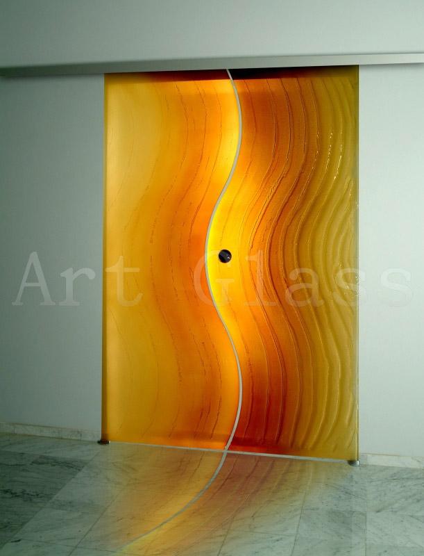 Двери декоративные стеклянные по индивидуальным эскизам