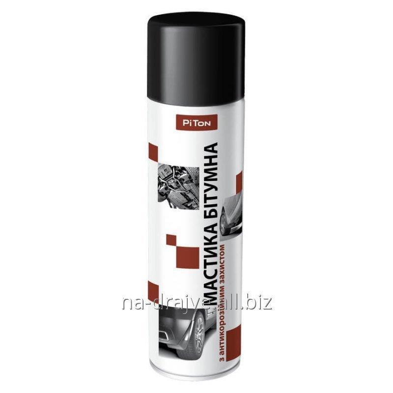 Купить Битумная мастика с антикоррозийной защитой 500мл аэрозоль PITON