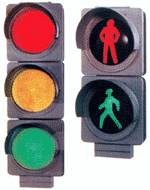The traffic light is road
