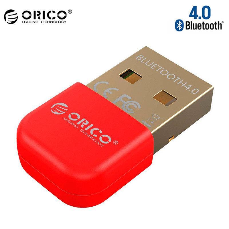 Купить USB Bluetooth адаптер ORICO беспроводной передатчик bluetooth 4.0 для компьютера, ноутбука BTA-403-RD (Красный)