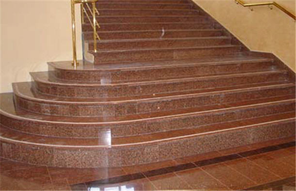 Лестницы из гранита, лестничные марши, ступени гранитные