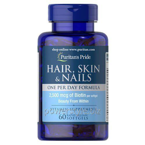 Купить Витамины Puritan's Pride Hair, Skin Nails One Per Day Formula 60 caps