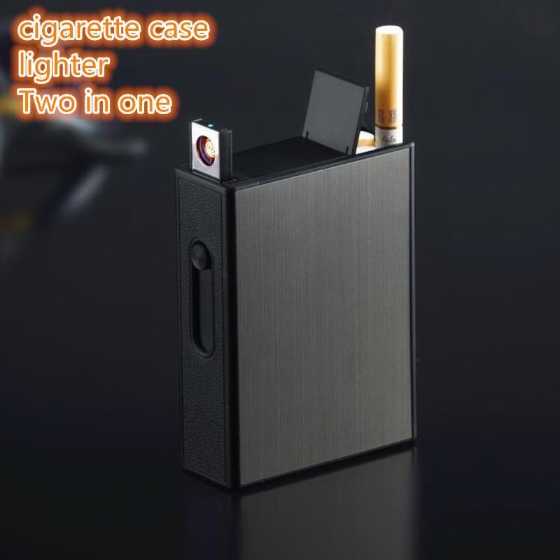 Купить Портсигар + электро - зажигалка Sdin №355