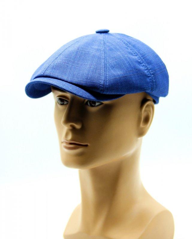 Купить Восьмиклинка летняя кепка голубая.