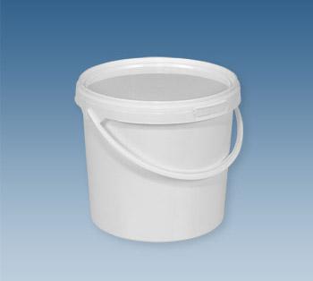 Ведро пластиковое пищевое 1 л прозрачное