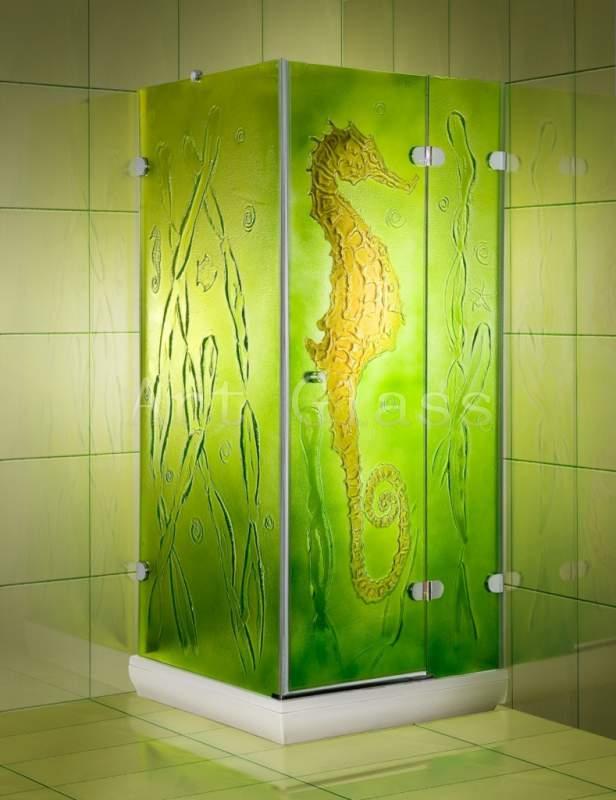 Buy Glass shower cabins according to individual sketches, original design and a decor for a bathroom
