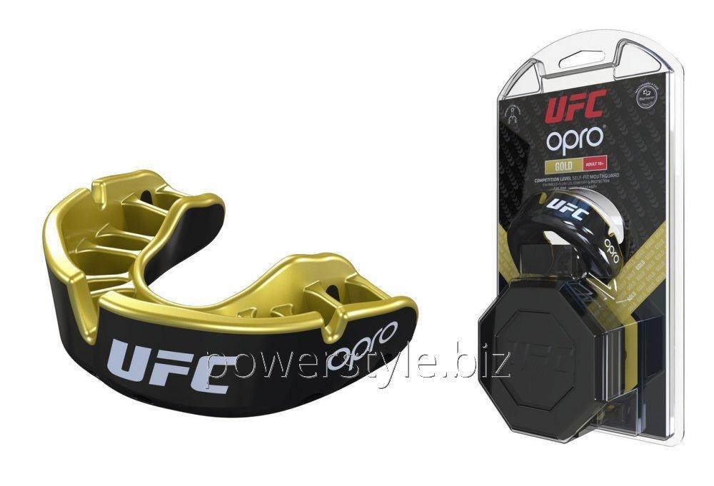Купить Капа OPRO Gold UFC Hologram Black Metal/Gold (art.002260001)
