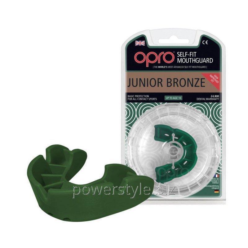 Купить Капа OPRO Junior Bronze Green (art.002185003)