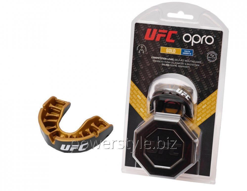 Купить Капа OPRO Junior Gold UFC Hologram Black Metal/Gold (art.002260001)